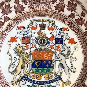 VINTAGE Dominion of Canada Commemorative Plate